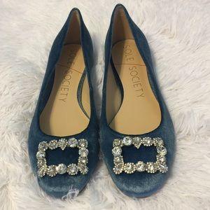 Sole Society So-Pamela Glacier Blue Smooth Velvet